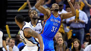 Grizzlies 103, Thunder 97 (OT): Mike Conley had 24 points and four steals as host Memphis overcame a 17-point deficit to stun Oklahoma City and take a 3-1 lead in the best-of-seven Western Conference series.