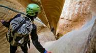 An inside-out adventure canyoneering in Utah