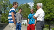 Ian Rowe remembers what it's like to compete in the boys state tennis tournament.