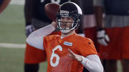Chicago Bears quarterbacks coach Matt Cavanaugh has been able to oversee Jay Cutler for all of four offseason practices. But already, he likes what he sees. And hears.
