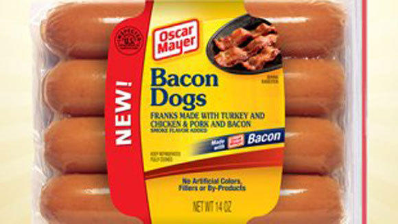 Bacon Dogs are just one of the five new hot dog flavors being introduced by Kraft's Oscar Mayer brand.