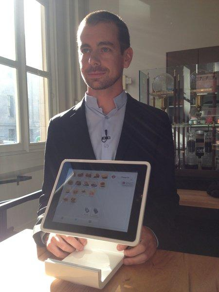 Jack Dorsey, CEO and co-founder of San Francisco payments company Square, unveiled the new Square Stand at a press conference in San Francisco.