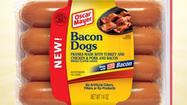 "Kraft has unveiled several new hot dog flavors, including a ""Bacon Dog,"" made with hardwood-smoked Oscar Mayer bacon."