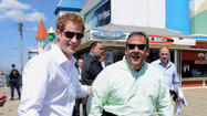 Prince Harry and Governor Chris Christie