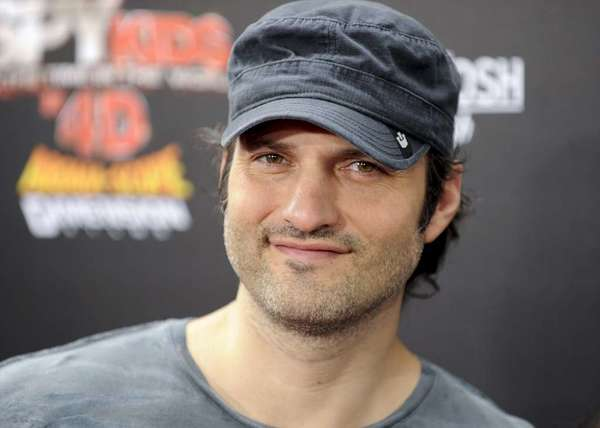 "Robert Rodriguez, shown in 2011 at the premiere of his movie ""Spy Kids: All the Time in the World in 4D"" in Los Angeles, told advertisers at Univision's upfront presentation in New York on Tuesday about programming for his new network El Rey."