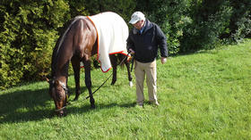 Derby champ finds a great place to chow down at Pimlico