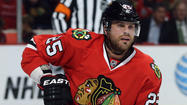 Viktor Stalberg was in a white jersey and skating out of the Chicago Blackhawks' top four lines again on Tuesday.