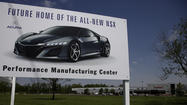 Honda to boost Acura brand, build new electric-augmented NSX in Ohio