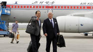 BEIJING -- A senior aide to Japanese Prime Minister Shinzo Abe arrived Tuesday in North Korea, but neither country gave a reason for the unannounced visit that followed weeks of high tension in the region over the North's nuclear and missile tests.