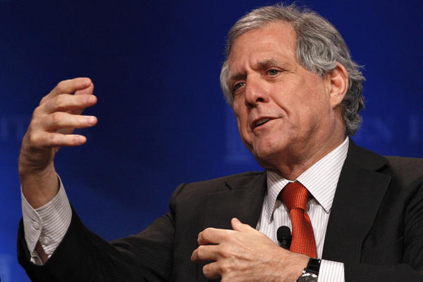 CBS Chief Executive Leslie Moonves has long dreamed of running a major film studio. Above, Moonves speaks at the annual Milken Institute Global Conference in Beverly Hills last month.