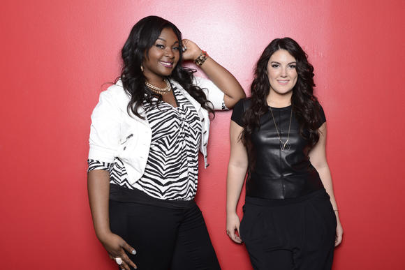 The final two: Candice Glover (left) and Kree Harrison.