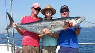 Kathy Bootle caught a 65-pound kingfish Monday morning fishing on the Fish City Pride drift boat out of Hillsboro Inlet Marina.