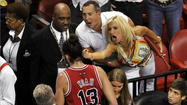 When Joakim Noah was ejected during Game 2 of the Heat series in Miami, he was greeted by the middle finger of a now-infamous Heat fan, a woman identified as Filomena Tobias, whose colorful back story was widely circulated afterward. However, few people commented on the statement given by Tobias' daughter Victoria Racanati, who told the Sun-Sentinel in Fort Lauderdale that her mother is a Heat season ticket holder who attends every game.