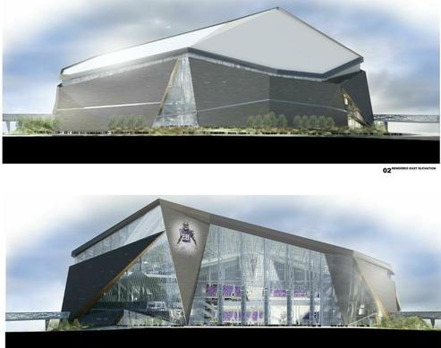 A view of the design for the Minnesota Viking's new stadium released by the Vikings and posted to their website on May 13, 2013.