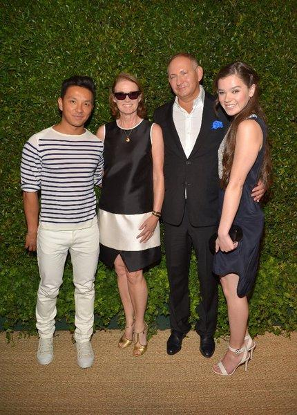 From left, Prabal Gurung, Vogue Senior West Coast Editor Lisa Love, Estee Lauder Group President John Demsey and actress Hailee Steinfeld at a Chateau Marmont cocktail party and dinner honoring the designer.