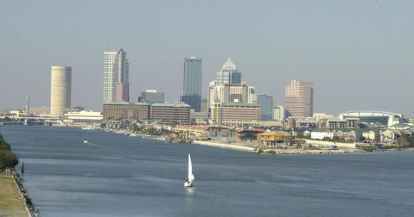 Tampa skyline and Davis Island
