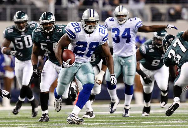 Felix Jones (28) played with the Cowboys for five seasons, rushing for 2,728 yards (4.8 yards per carry).