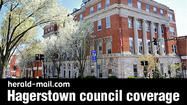 The Hagerstown City Council on Tuesday voted 3-1 to introduce an ordinance for a $133,145,831 budget for fiscal 2013-14 that holds the line on real estate taxes and provides for an increase in pay for city employees.