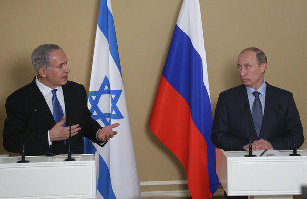 Israeli Prime Minister Benjamin Netanyahu, left, reportedly urged Russian President Vladimir Putin during their Kremlin meeting Tuesday to scratch delivery of S-300 missiles to the regime of Syrian President Bashar Assad. Russia had been indicating readiness to collaborate with Western powers on Syria but appears to have reconsidered in the wake of Israeli airstrikes in Syria and a reported U.S. attempt to recruit a Russian agent to spy for the CIA.