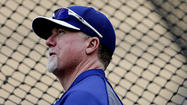 I had never met <strong>Mark McGwire</strong> before Tuesday night, but I knew of his reputation and the fact he has struck out so far as the Dodgers' hitting coach.
