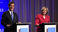 Wendy Greuel and Eric Garcetti ventured into school district politics Tuesday, lending support to non-controversial actions and mostly taking a respite from their recent sniping in the Los Angeles mayoral contest.