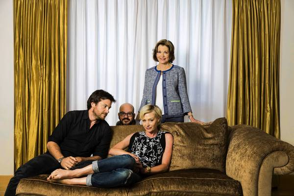 "Actors David Cross, Portia de Rossi, Jessica Walter and Jason Bateman of ""Arrested Development,"" returning as a Netflix release of 15 episodes."