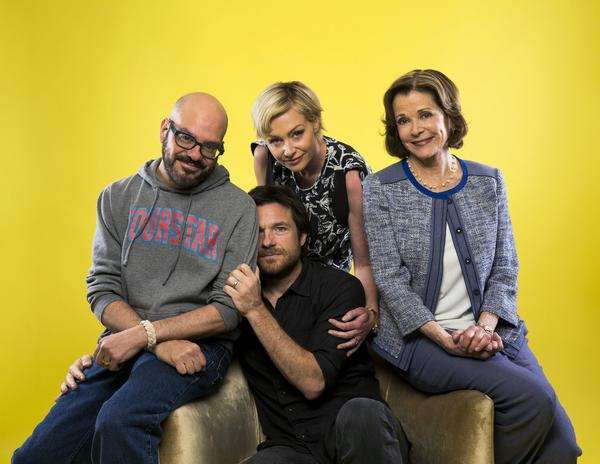 """Arrested Development"" actors David Cross, Portia de Rossi, Jessica Walter and Jason Bateman."
