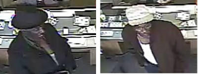 The Gloucester County Sheriff's Office is asking for help identifying two men they say robbed Vashti's Jewelry & Gift Shoppe in the Edgehill Center on May 6. Anyone with information on the two suspects is asked to contact the Gloucester County Sheriff's Office at 804-693-3890 or the Crime Line at 888-LOCK-U-UP.