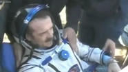 Astronaut Chris Hadfield returns to Earth