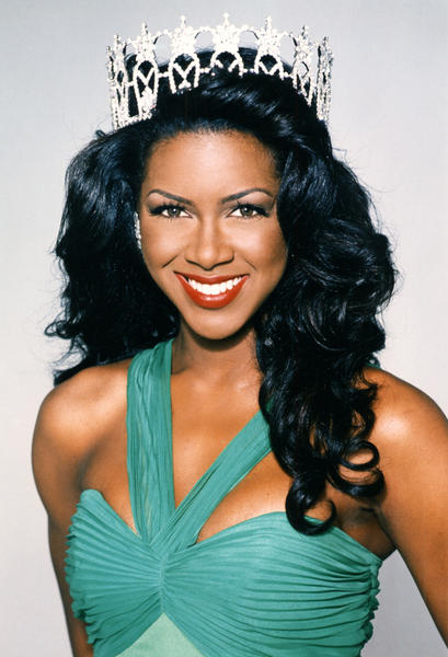 An official headshot of Kenya Moore, Miss USA 1993.  Moore was the fifth of seven Miss USAs to be 22 years old when she was crowned.
