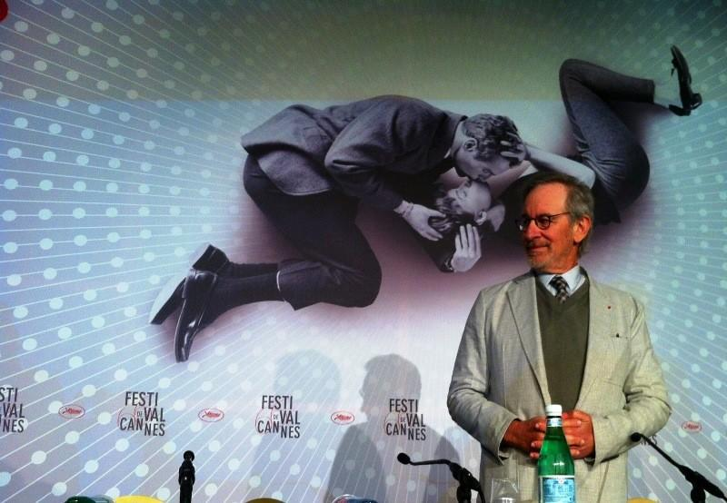 Director Steven Spielberg speaks at the opening press conference of the Cannes Film Festival.