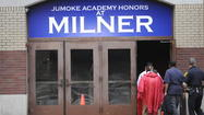 Former Mayor Thirman Milner recalled a time when he wanted his name taken off the school building where he stood Tuesday night.