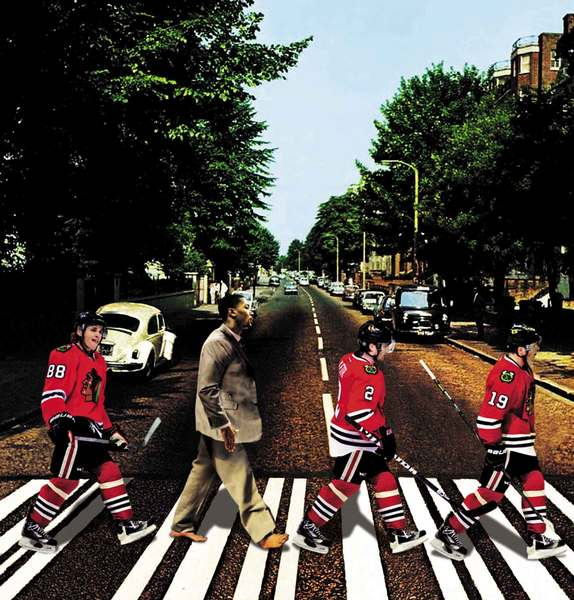 Derrick Rose's absence has cast a pall on the Bulls' season as it dies against the Heatles, while Kaner, Dunc and Johnny (if not George, Ringo and John) walk the road to the Cup.