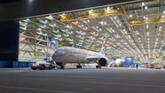 A British Airways Boeing 787 Dreamliner comes off the assembly line in Everett, Wash.