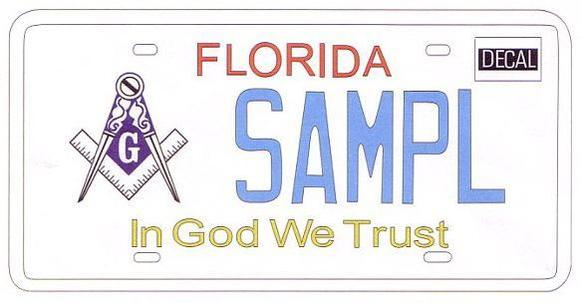 Approved by the 2013 Florida Legislature. Awaiting Gov. Scott's signature: This specialty tag  would  raise funds to benefit the Masonic Home of Florida Endowment Fund. It must generate 1,000 preorders within 24 months before it's put into production.