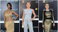 "If the premiere of ""Star Trek: Into Darkness"" is any indication, high style will be alive and well in the 23rd century. The film's cast and celebrity supporters were in full galactic glam at Tuesday night's premiere. Zoe Saldana chose a nude silk embroidered dress with tiered silk chiffon from Rodarte's fall and winter 2013 collection (accessorized with a white and gold hand-knit Rodarte cardigan). Jennifer Morrison was a constellation unto herself in a baby blue geometric sequin jumpsuit from the spring and summer 2013 collection of Edition by Georges Chakra, and Alice Eve beamed down to the planet's surface in a futuristic gold embroidered sheath dress with black silk knit paneling from the pre-fall 2013 Zuhair Murad RTW collection."