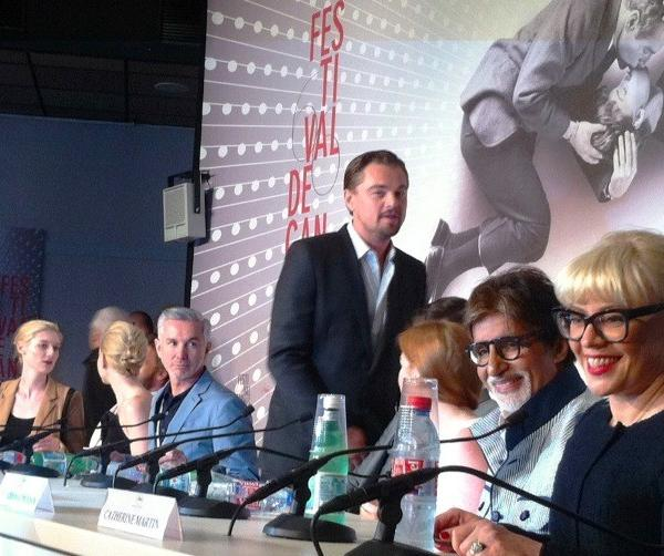 """The Great Gatsby"" star Leonardo DiCaprio appears at the Cannes Film Festival opening day press conference."