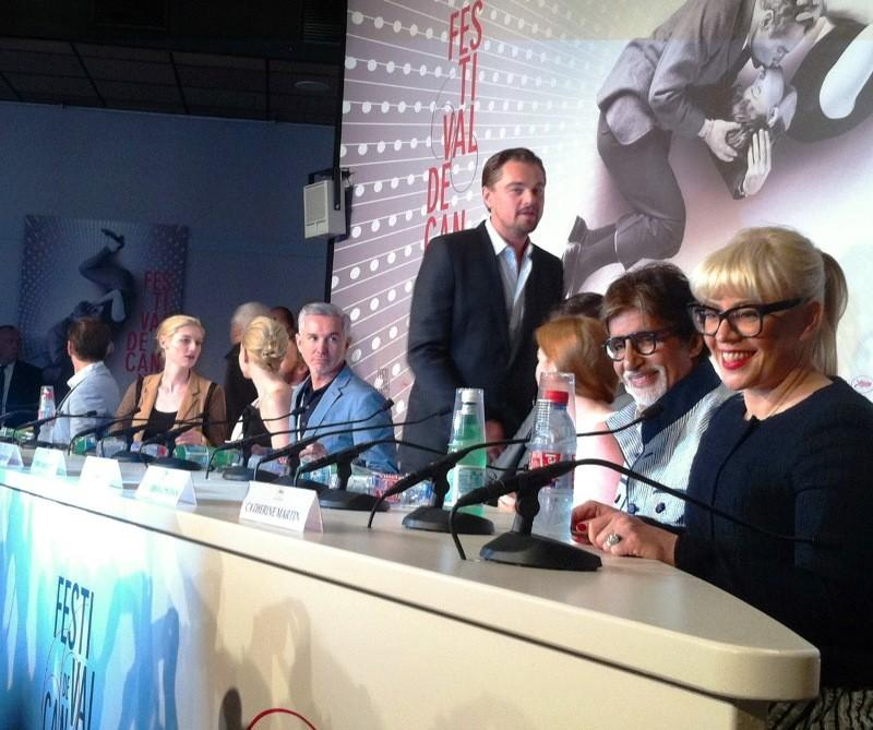"""""""The Great Gatsby"""" star Leonardo DiCaprio appears at the Cannes Film Festival opening day press conference."""