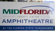 There's a new name for the Live Nation Amphitheatre in Tampa, which was rechristened the MidFlorida Credit Union Amphitheatre at a news conference today at the venue at the Florida State Fairgrounds.
