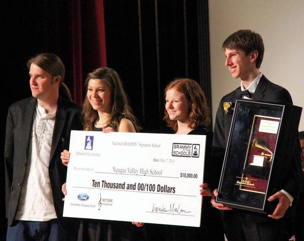 Neuqua Valley High School was awarded a Grammy statue and $10,000 for being named this year's National Grammy Signature School.
