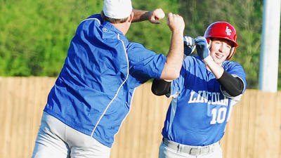 Baseball: Lincoln rallies late, but falls 13-10 to Somerset