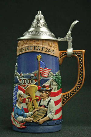 "The employee who says she lost her job after contending that $70 Musikfest beer steins being sold as ""handcrafted in Germany"" were actually made in China will receive $25,000 from Artsquest."