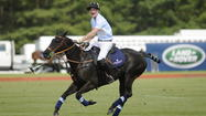 England's Prince Harry burnished his image and filled his charity's coffers ending a one week tour of the U.S. at a charity polo match in Greenwich Wednesday.