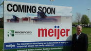 Homer Glen, (May 15, 2013)  The Coming Soon sign is up and Meijer is set to move ahead on its new store in Homer Glen.  Village Trustees approved the final Planned Unit Development Plans for Meijer at their board meeting held on May 14th.  Meijer's real estate director, Michael Flickinger, indicated that residents will see construction begin on the site in about one to two weeks.
