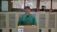 Joliet West High School student Kyle Meadows recently placed first in the annual JJC Welding Competition.  The competition, made up of 90 students from 16 high schools and vocational centers, required students to take a written performance test, read blueprints and complete five different welds.  Students were judged on safety and the quality of their welds.