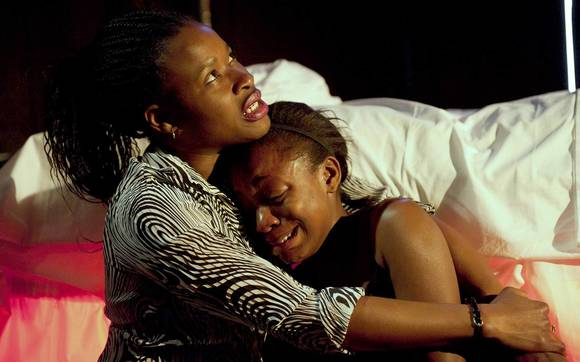 "Adura Onashile and Mercy Ojelade in ""Roadkill,"" presented by Chicago Shakespeare Theater as part of the World's Sta"