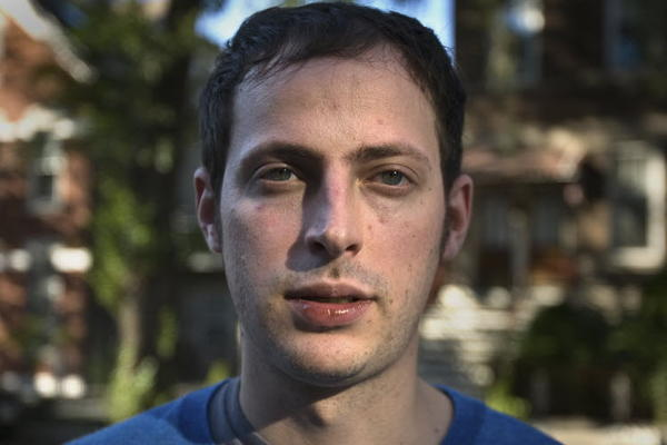 Nate Silver, photographed in his Wicker Park neighborhood in 2008.