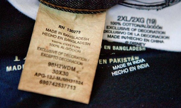 The collapse of a garment factory in Bangladesh has sparked demands for greater scrutiny of the global clothing industry. Above, labels of garments made in Bangladesh, India, China and Pakistan.