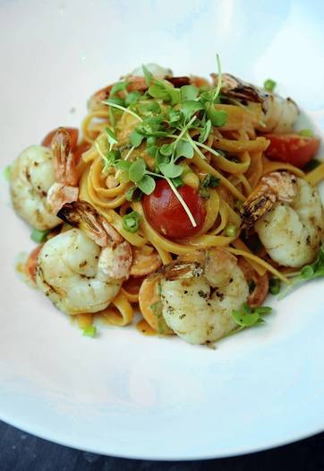 Summer shrimp fettucine mascarpone from Fig & Olive