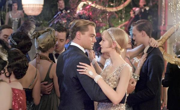 "Leonard DiCaprio as Jay Gatsby and Carey Mulligan as Daisy Buchanan in ""The Great Gatsby,"" a Warner Bros. Pictures release."